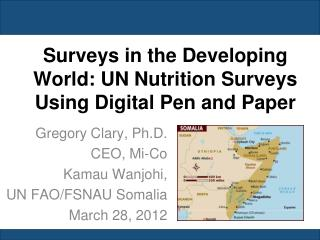 Surveys in the Developing World: UN Nutrition Surveys Using Digital Pen and Paper
