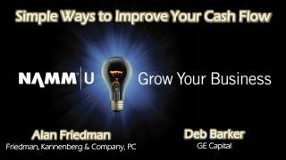 Simple  Ways to Improve  Your Cash Flow