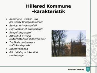 Hillerød Kommune -karakteristik