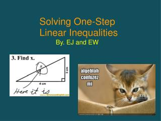 Solving One-Step  Linear Inequalities