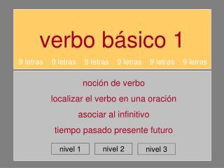 verbo básico 1
