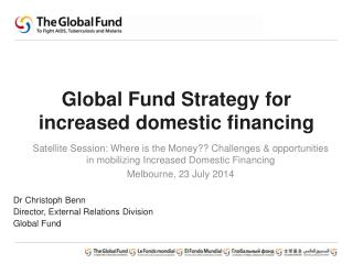 Global Fund Strategy for increased domestic financing