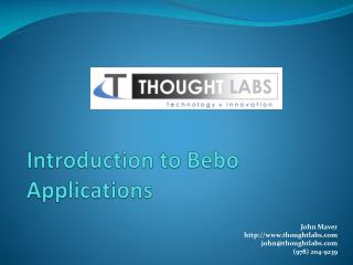 Introduction to Bebo Applications