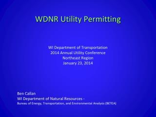 Ben Callan WI Department of Natural Resources -