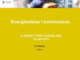 KLIMANETTVERK HORDALAND 18.sept 2012