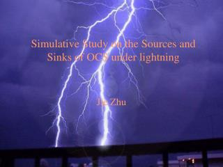 Simulative Study on the Sources and Sinks of OCS under lightning