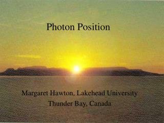 Photon Position