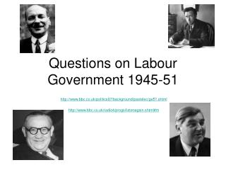 Questions on Labour Government 1945-51