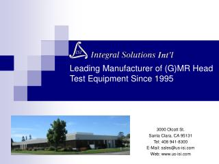 Leading Manufacturer of GMR Head Test Equipment Since 1995