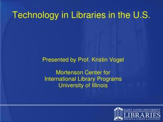 Technology in Libraries in the U.S.