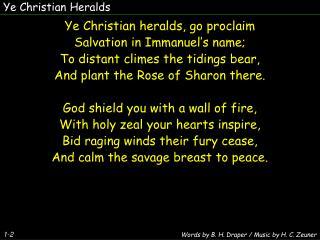 Ye Christian Heralds