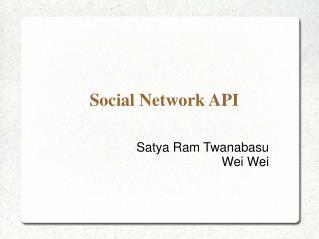 Social Network API
