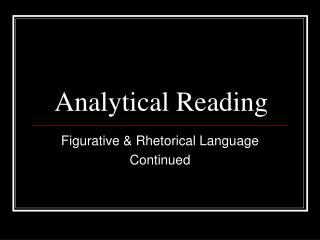 Analytical Reading