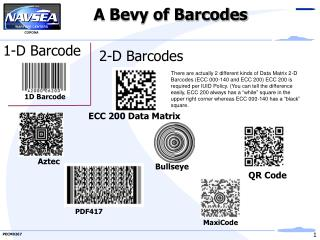 A Bevy of Barcodes