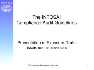 The INTOSAI  Compliance Audit Guidelines