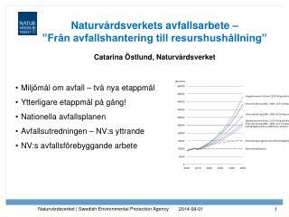 Milj�m�l om avfall � tv� nya etappm�l Ytterligare etappm�l p� g�ng! Nationella avfallsplanen