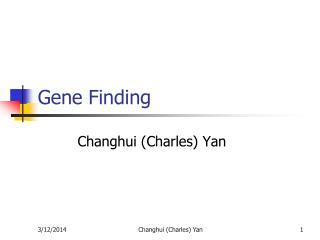 Gene Finding
