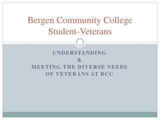 Bergen Community College Student-Veterans