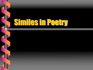 Similes in Poetry