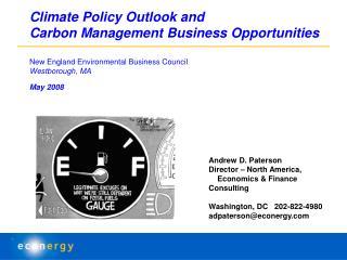 Andrew D. Paterson Director – North America,      Economics & Finance Consulting