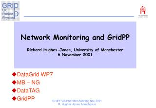 Network Monitoring and GridPP Richard Hughes-Jones, University of Manchester 6 November 2001