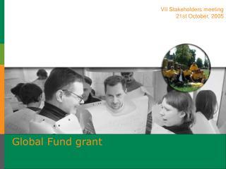 Global Fund grant