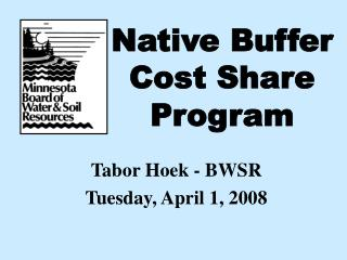 Native Buffer Cost Share Program