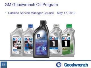 GM Goodwrench Oil Program