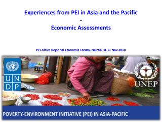 Experiences from PEI in Asia and the Pacific  - Economic Assessments