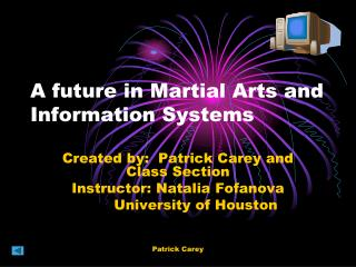 A future in Martial Arts and Information Systems