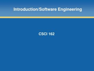 Introduction/Software Engineering