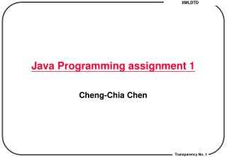 Java Programming assignment 1