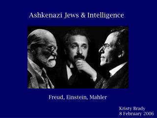Ashkenazi Jews & Intelligence