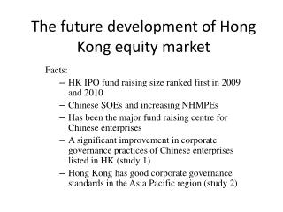 The future development of Hong Kong equity market