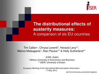 The distributional effects of austerity measures:  A comparison of six EU countries