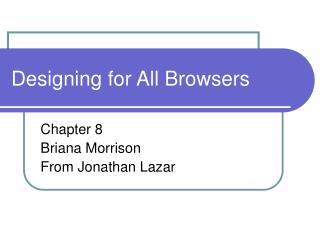 Designing for All Browsers