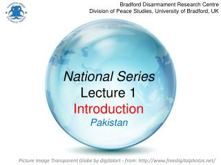 National Series Lecture 1 Introduction Pakistan