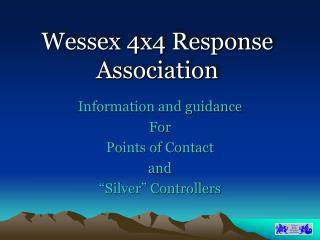 Wessex 4x4 Response Association