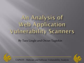 CAP6135 – Malware and Software Vulnerability Analysis