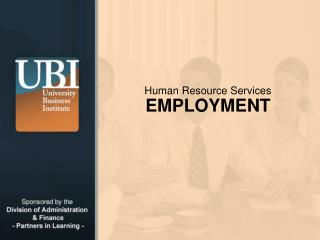 Human Resource Services EMPLOYMENT