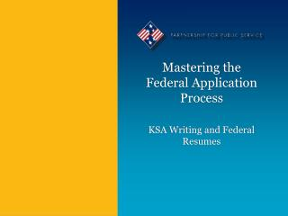 Mastering the Federal Application Process