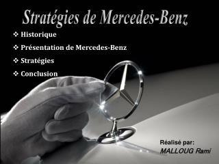 Stratégies de Mercedes-Benz