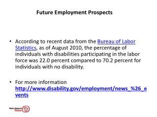 Future Employment Prospects