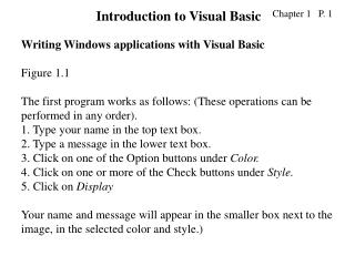 Writing Windows applications with Visual Basic Figure 1.1