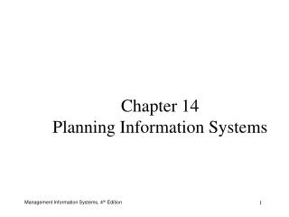 Chapter 14 Planning Information Systems