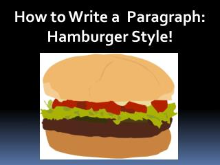 How to Write a  Paragraph: Hamburger Style!