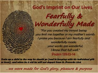God's Imprint on Our Lives