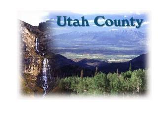 Utah County is located in the center of Utah .