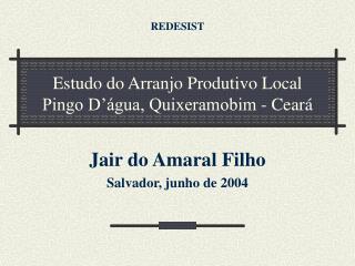 Estudo do Arranjo Produtivo Local Pingo D'água, Quixeramobim - Ceará