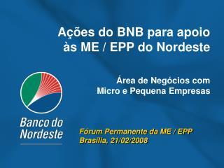 Fórum Permanente da ME / EPP Brasília, 21/02/2008